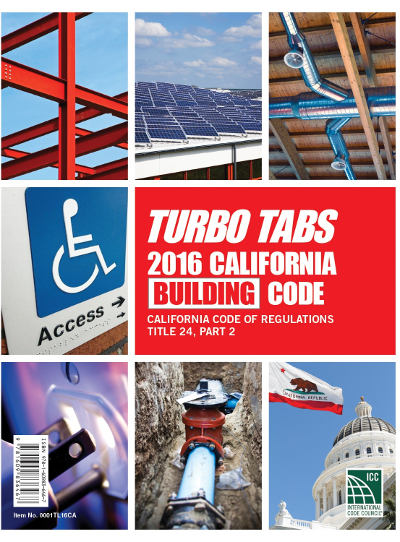 2016 California Building Code, Title 24, Part 2, Turbo Tabs