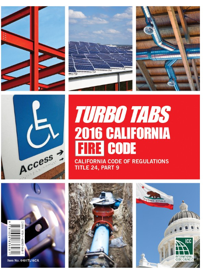 2016 California Fire Code, Title 24, Part 9, Turbo Tabs