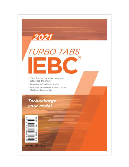 2021 International Existing Building Code Turbo Tabs Softcover