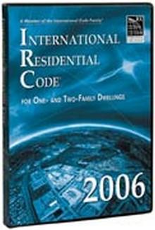 International Residential Code Irc 2006 Cd Rom