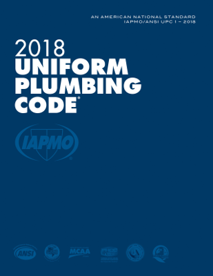 2018 Uniform Plumbing Code Soft Cover with Tabs