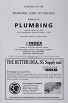 2011 Chicago Plumbing Code