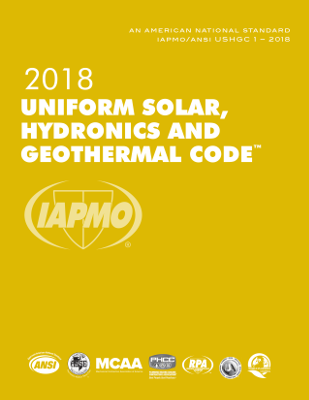 2018 Uniform Solar, Hydronics and Geothermal Code
