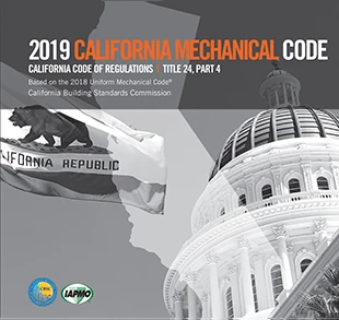 2019 California Mechanical Code, Title 24 Part 4