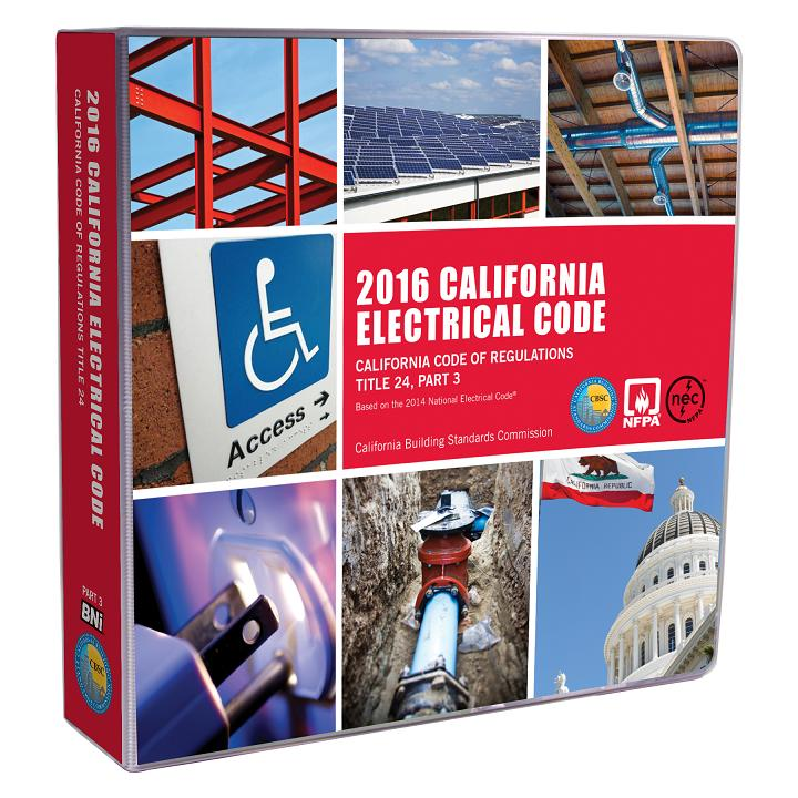 2016 California Electrical Code<br/> - Title 24 Part 3