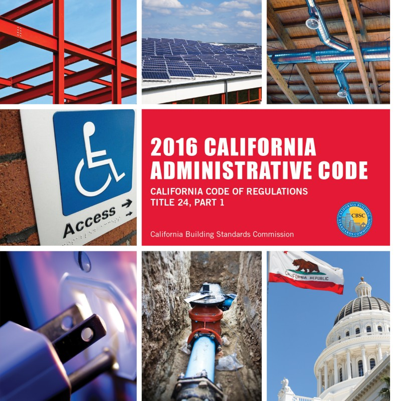 2016 California Administrative Code - Title 24 Part 1