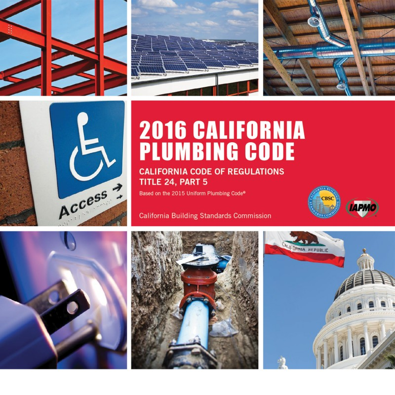 2016 California Plumbing Code - Title 24 Part 5
