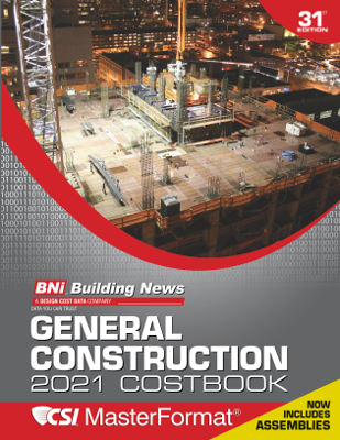 BNi General Construction Costbook 2021 Edition - with Assemblies