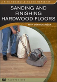 Sanding and Finishing Hardwood Floors DVD