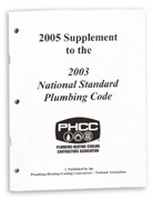 2005 Supplement to the 2003 National Standard Plumbing Code (NSPC)