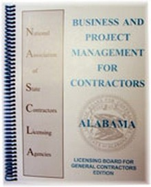 Alabama, Business and Project Management for Contractors, General Contractors, 2nd Edition