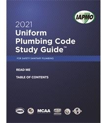 2021 Uniform Plumbing Code Study Guide