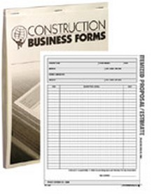 Atlas Construction Business Forms - Itemized Proposal/Estimate Form (50 Pack)