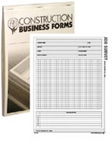 Atlas Construction Business Forms - Job Survey Form (50 Pack)