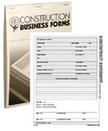 Atlas Construction Business Forms - Subcontract Agreement Form (50 Pack)