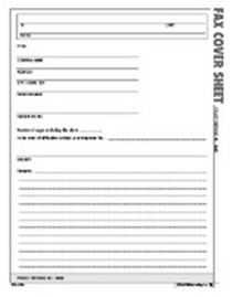 Fax Cover Sheet Form - Atlas Construction Business Forms Download