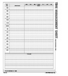 Time Management Sheet Form - Atlas Construction Business Forms Download