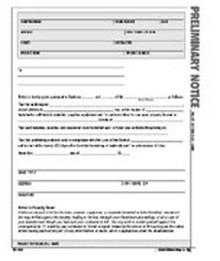 Preliminary Notice Form - Atlas Construction Business Forms Download