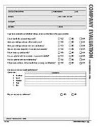 Company Evaluation Form - Atlas Construction Business Forms Download