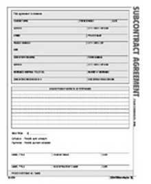 Subcontract Agreement Form - Atlas Construction Business Forms ...