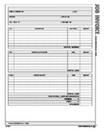 Job Invoice Form - Atlas Construction Business Forms Download