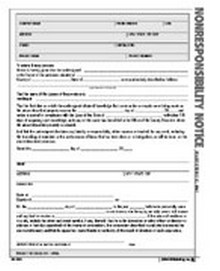 Non-responsibility Notice Form - Atlas Construction Business Forms Download