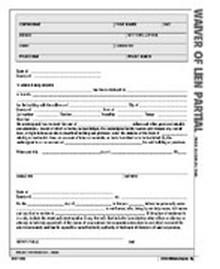 Waiver of Lien Partial Form - Atlas Construction Business Forms Download
