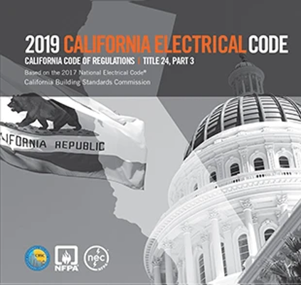 2019 California Electrical Code, Title 24 Part 3