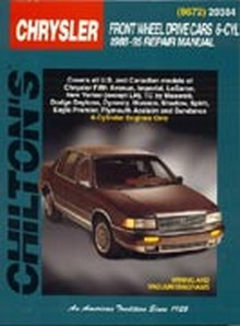 Chilton Repair Manual: Chrysler Front Wheel Drive Cars, 6 Cylinder 1988-95