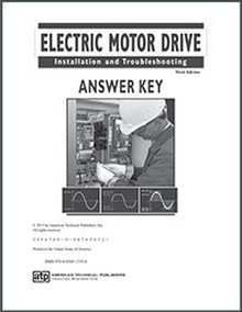 Electric Motor Drive Installation and Troubleshooting, 3rd Edition Answer Key