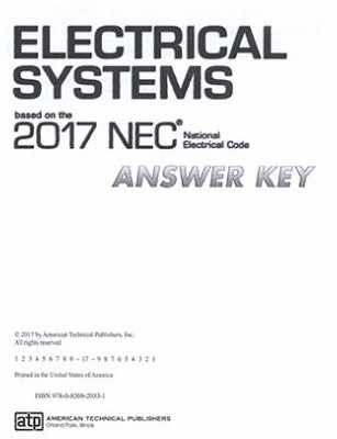 Electrical Systems Based on the 2017 NEC Answer Key