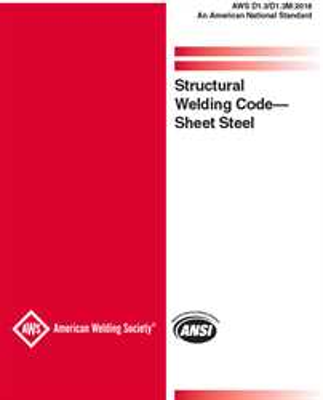 D1.3/D1.3M:2018 Structural Welding Code-Sheet Steel