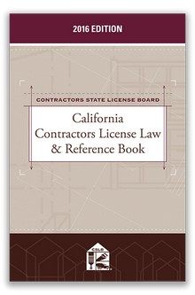 California Contractors License Law & Reference Book 2016