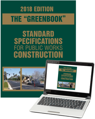 2018 Greenbook: Standard Specifications for Public Works Construction - Print and eBook Combo