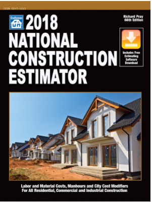 2018 National Construction Estimator Construction Book