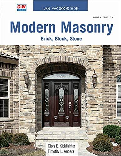 Modern Masonry: Brick, Block, and Stone 9th Edition - WORKBOOK