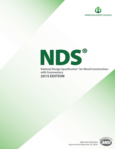 NDS and Wood Design Package, 2015 Edition