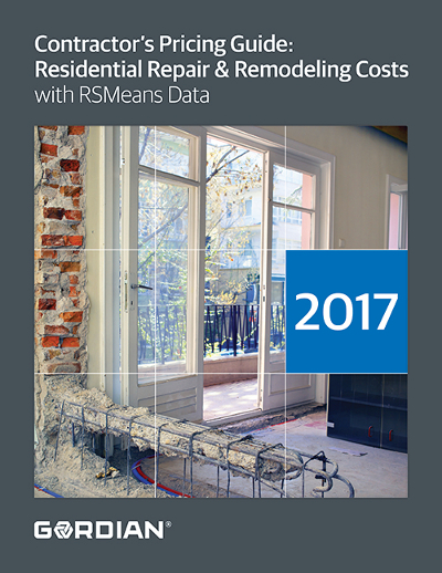 2018 Contractor's Pricing Guide: RSMeans Residential Repair & Remodeling Costs