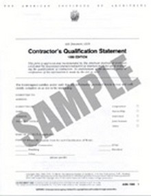 AIA - A305-1986 Contractor's Qualification Statement