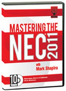 2011 Mastering the NEC - Raceways, Boxes & Cabinets: Fill and Dimensions DVD # 10