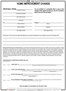 BNi Form 101HI C: Home Improvement Contract Change  Construction Contract Forms