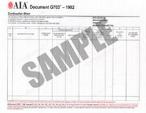 AIA - G703-1992 Continuation Sheet for G702-1992 - 50 Pack