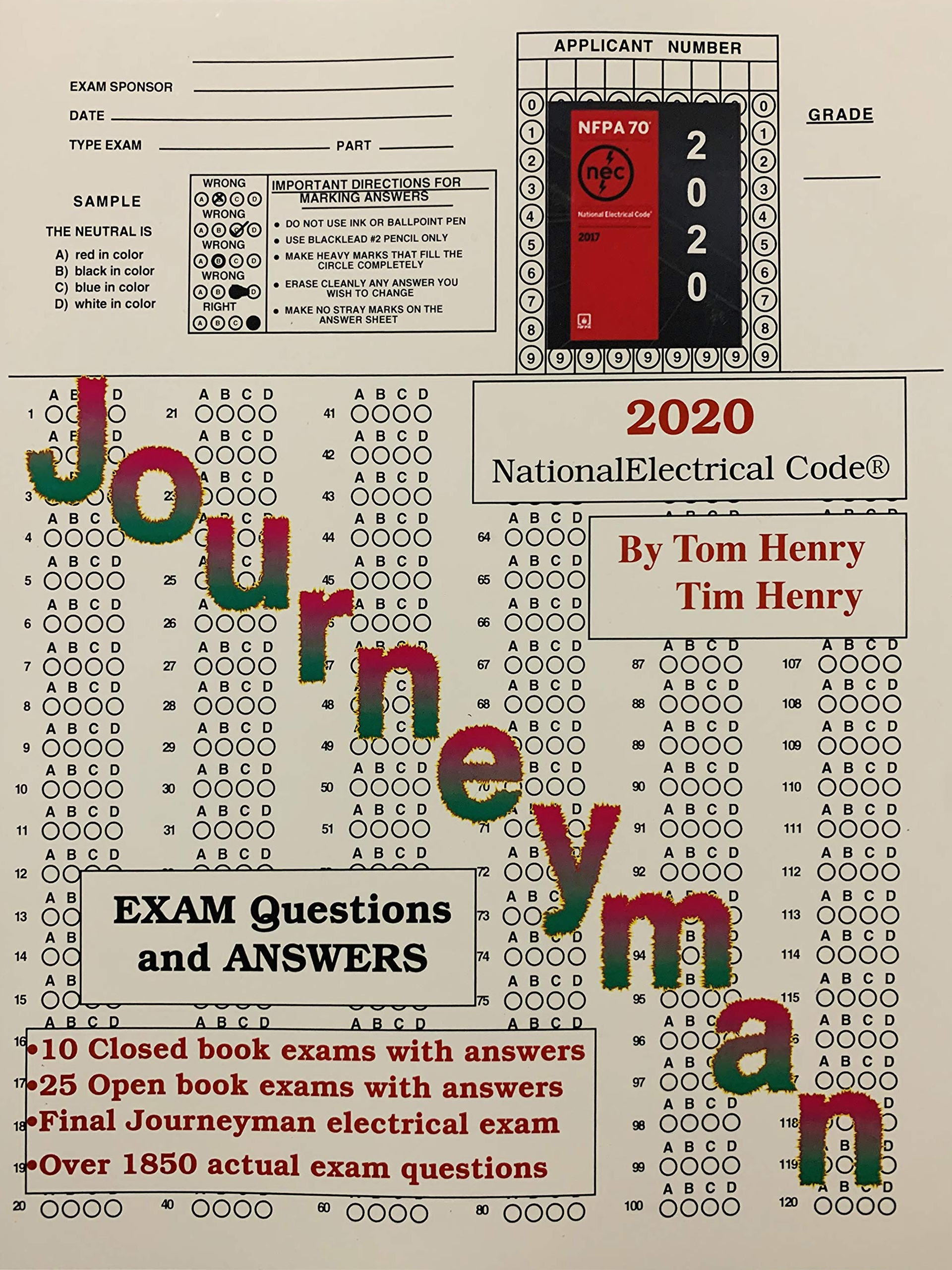 Journeyman Electrician Exam Questions & Answers 2020