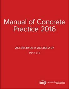 ACI Manual of Concrete Practice Volume 4, 2016