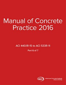 ACI Manual of Concrete Practice Volume 6, 2016