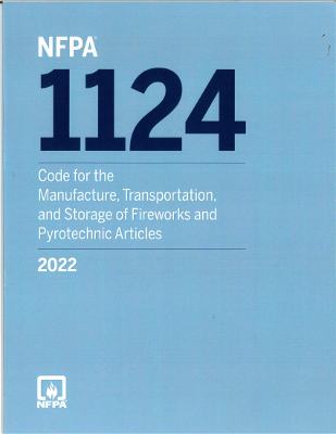 2022 NFPA 1124 Manufacture Transportation Storage Fireworks Pyrotechnic