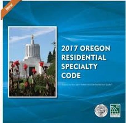 2017 Oregon Residential Specialty Code Construction Book